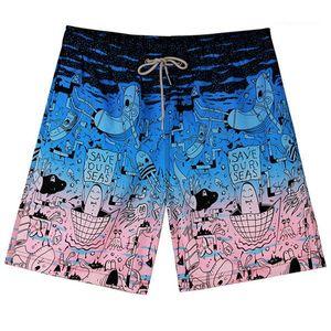 Swimwear solto Calção Mens Praia de banho Plus Size sexo masculino de natação Homens Floral Shorts Natação Trunks Quick Dry Mens de
