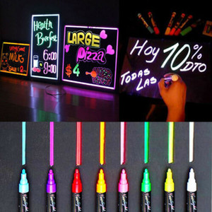 8pcs 6mm fluorescent surligneur Wet Liquid Chalk néon Marqueur à sec Eras Highlighters