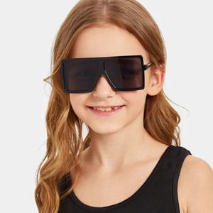 niños gafas de sol cuadradas niñas bebés varones del festival de punk gran tamaño gafas de sol UV400 gafas de los niños masculino