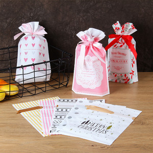 Candy Snack Bread Bakery Cookie Biscuits Packaging Boxes Wedding Party Gift Bag Jewelry Bags Christmas Gift Pouches Bag with Drawstring