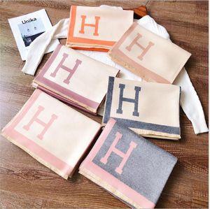 Lletter H cashmere caldo lungo di spessore scialle doppio scopo pettorina delle donne sciarpa in inverno