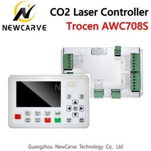 Система регулятора лазера СО2 Trocen AWC708S для гравировки и автомата для резки лазера заменяет AWC708C Lite Ruida Leetro NEWCARVE