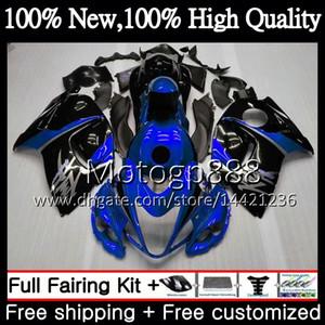 Cuerpo para SUZUKI Hayabusa GSXR1300 2008 2009 2010 2011 19PG87 GSXR 1300 08 09 10 11 Azul negro GSX R1300 12 13 14 15 Carenado Carenado