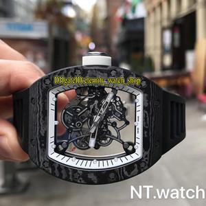 NT Top Versione RM 055 NTPT Tutti in fibra di carbonio di scheletro di caso Dial Orologi di Lusso Giappone NH automatico RM055 Mens Watch Sapphire Elastico Sport