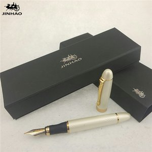 1 шт / много Jinhao X450 авторучка 12 цветов Золото / SilverBlack / красный / зеленый Ручки Jinhao Школьные принадлежности Papelaria 14.3 * 1.3cm