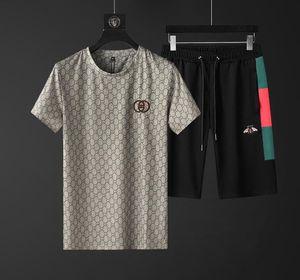 GUCCI Mens Tasarımcısı Moda Eşofman Mektupları Nakış lüks Yaz Spor Kısa Kollu Kazak Jogger Pantolon Suit O-Boyun Spo