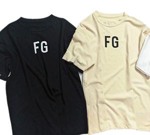 الضباب أساسيات FG الرجال تي شيرت الصيف تي شيرت للرجال قصيرة الأكمام القطن عادية مصمم القمم قمزة