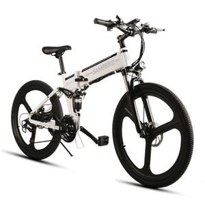 Samebike Ciclismo Bicicleta eléctrica 21 Velocidad 10AH 48V 350W E Bicicleta eléctrica MTB Bicicleta Motor Plegable EBike Potente bicicleta eléctrica