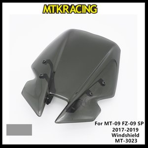 MTKRACING Windscreens için MT09 FZ09 MT09 SP FZ09 2017 2018 2019 Rüzgar Deflektörlere Cam Windscreens MT-3023