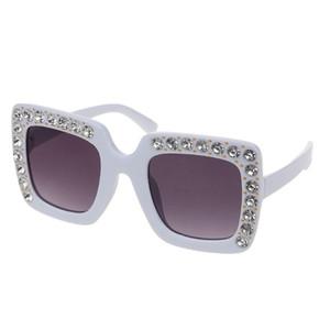 Luxo Rhinestone CRIANÇA ÓCULOS Quadratura Sol Óculos crianças bebê Sunglasses Rapazes Raparigas Feminino 95AB