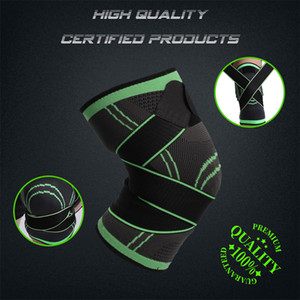 In Stock 1PC Sports Kneepad Men Pressurized Elastic Knee Pads Support Fitness Gear Basketball Volleyball Brace Protector FY8039