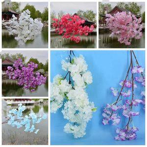 İpek Çiçek sArtificial sakura Simülasyon şeftali çiçeği Çiçek Gelin Holding Çiçekler 3 Şakayık Başkanları Ev ve Düğün Dekorasyon LXL1069