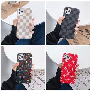 Top Designer pour iPhone 11 Pro Max XS XR X 8/7 plus Téléphone couverture arrière de cas de monogramme de marque pour Samsung Galaxy S9 S10 note 9 10 Shell A002