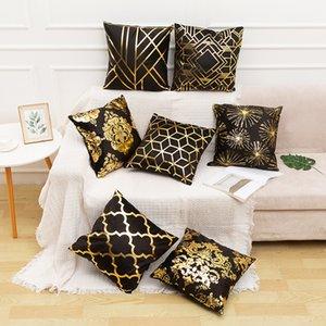 2.020 Ouro Stamping Pillow Ouro Stamping Popular tampa personalizada Europeia Sofá Almofada cintura Caso Household clássico fronha Onkio