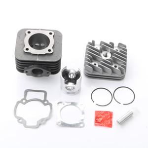 70cc Big Bore Zylindersatz Piston Kit Zylinderkopfdichtung für Piaggio Diesis freie Freiheit NRG 50 Power-DT Sturm 50 47mm / 12mm