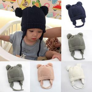 Quente Moda de Nova Hot Newborn Baby Kids Rapazes Raparigas Pom Hat Inverno Crochet Gorro Cap Knit Bobble Casual bonito Horned encantadores Chapéus