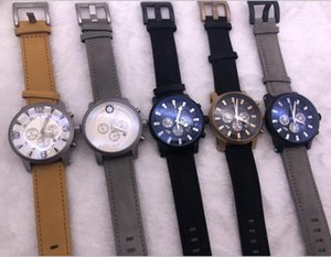 2020 para hombre Relojes Mont Time Walker Trabajo Sub Dial reloj de pulsera cronógrafo movimiento de cuarzo resistente al agua 2pcs Relogio Masculino