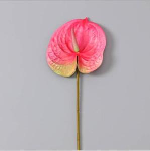 Alocasia por mayor planta artificial para la decoración de la boda 3D PU de la impresión suculenta anthurium artificial 68cm anthurium decoración de navidad