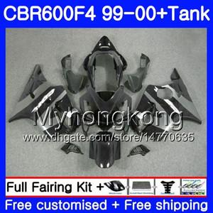 Corps + réservoir pour HONDA CBR 600 F4 FS CBR 600F4 CBR600F4 99 00 Noir gris stock 287HM.36 CBR600FS CBR600 F 4 CBR600 F4 1999 2000 kit de carénage