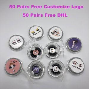 1 paire / lot 21 styles cils de vison 3D Private Label 100% fourrure de vison véritable fait main faux cils croisant les cils bande individuelle cils épais