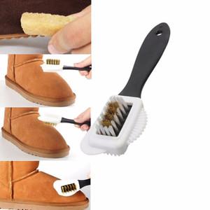 Escova de limpeza New Preto 3 Lado Para Suede Nubuck Boot sapatos S Forma sapatos Cleaner Atacado