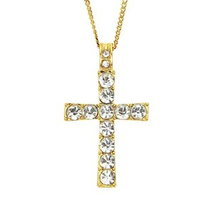 2020 designer necklace hip hop alloy golden cross pendant necklace Cuban religious Jewish pendant chain fashion accessories