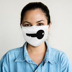 Cotton Washable Reusable Face Mask Black Key Fashion Covering Shield Profession