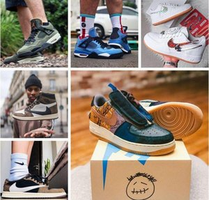 Nike air jordan 1s Cactus Jack Sneakers Mens Womens Trainers Shoes Travis ts scotts X air force 1 Low CN2405-900 AJ 4 6 Shoes