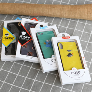 Wholesale white packaging box for mobile phone case with pvc window and universal blister tray for iPhone 7 X XR 7 Plus XS MAX 11 PRO cases