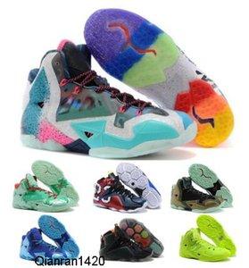 Баскетбол обувь кроссовки черный Что Lebrones 11 12 Christmas Heat Game Data NSRL South Beach Away 2020 Человек Mens Дизайнерские Zapatos обувь