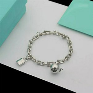 Beautiful Charming Locks and beads Bracelets & Bangles with 3 colors rose gold gold silver Choose chain Bangle Women with box