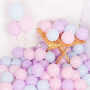 200pcs macaron caramelle palloncini colorati pastello palloncino in lattice festival compleanno evento forniture per feste decorazione della stanza nuziale 10 pollici
