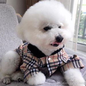 Classic Stripe Pattern Pets Hoodies Trendy Plaid Designer Pet Jackets Spring Fall Personality Bichon Coats Apparel