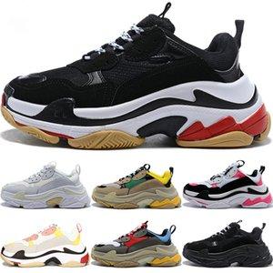 Balenciaga Triple S 2020 Üçlü S erkekler kadınlar ayakkabı tasarımcısı çiftleri sneakers 17FW pembe gri siyah beyaz erkek eğitmenler moda rahat baba ayakkabı artan sneaker