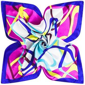 Bayan 60cm * 60cm bahar yeni geometrik eğri Mai Tong ipek eşarp hostes küçük kare kariyer