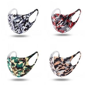 Casal Durable Mouth máscara máscaras Folding Camo Impressão Anti respingo poeira e vento protetor solar Respiradores protecção facial Mascherine 1 5qy E1