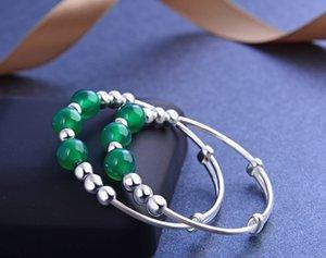 marca de qualidade superior pulseiras de prata pulseira de S990 finas novas crianças com ágatas jóias de prata vendedor de fábrica DDS0457