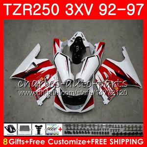 Corpo per YAMAHA TZR-250 3XV TZR250 92 93 94 95 96 97 119HM.0 TZR250RR RS YPVS TZR 250 1992 1993 1994 1995 1996 1996 1997 Carenatura rosso bianco