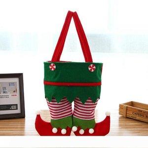 Нетканые ткани Рождество Эльф сумка Новый конфеты мешок Санта мешок подарка малышей фонтанной украшение партии украшение подарка
