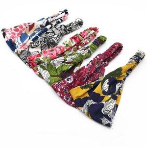 Floral Print Headwrap Sports Elastic yoga Hairband Fashion Cotton Fabric Wide headband For Women Hair accessoires YSY321