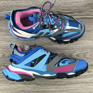 Triple S pista 3.0 Tess S Sneaker Nuovi colori uomini donne pattini casuali Bianco Arancione pista 3.0 Scarpe Low Top Lace-Up Outdoor Chaussures