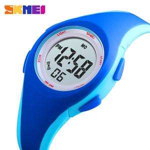 SKMEI Spor Çocuk Saatleri Dijital İzle Moda Daha Renkler İzle Çocuk 5bar Su geçirmez Parlak Ekran montre enfant 1459