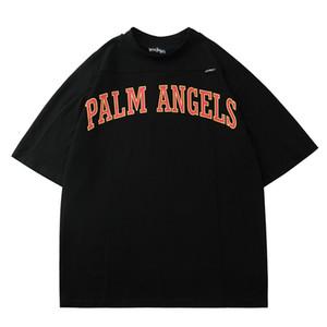 2020 SS весна и лето новый Palm PA Angels COLLEGE letter printed мужская повседневная футболка с короткими рукавами