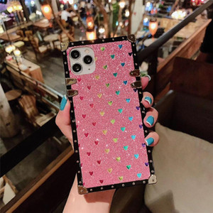 luxury designer phone cases iphone 11 For iphone 11 pro max case x xrxs Max 7 8p case with Glitter Love soft bonded edges coque iphone 11