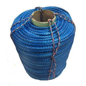 14 мм х 100 м длина синтетического каната лебедки UHMWPE линии буксирный канат синий цвет