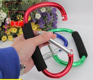 SPONG TYPE Keychain Carabiner Soft Eve Bag Legierung Griff Aluminium Carry Hook D Einkaufswerkzeug Nützlich großes Outdoor mit EDC 180 * 105mm Vefgk