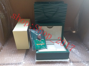 Luxury New Style Brand Green Watch Original Wood Box Papers Gift Watches Boxes Leather bag Card For Rolex Box 116600 Watch Box 005