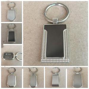 Materiales metálicos de la etiqueta en blanco llavero personalizado de acero inoxidable del anillo dominante creativo Llavero Coche del Publicidad para la promoción LXL924-1