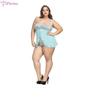 Daininus 섹시 란제리 에로 속옷 속옷 여성 레이스 미니 Babydoll 드레스 Porno Babydoll 섹시한 의상 의상 가운