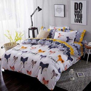 BEST.WENSD Luxury Ultra soft 100% cotton bedding sets horse deer bed linen for children zipper duvet cover-king bedclothing
